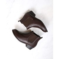 Ankle Chelsea Bootie in Brown