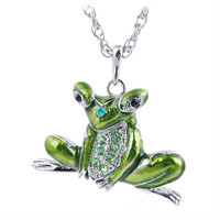 Silver Plated Jumping Frog