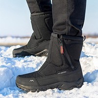 Men boots 2020 winter shoes men snow boots waterproof non-slip thick fur winter boots for -40 degrees