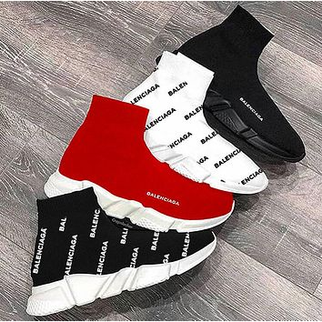 Balenciaga Sneakers Kint Socks Running Shoes More color