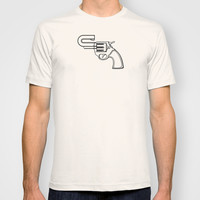 Real Gun T-shirt by Tony Vazquez
