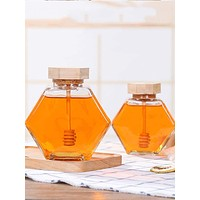 1pc Honey Container Bottle With Lid