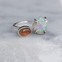 Olivia Kane Double Stone Mood Ring at Free People Clothing Boutique