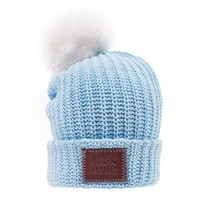 Baby Blue Pom Beanie - Love Your Melon