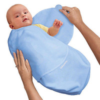 Summer Infant SwaddleMe Cotton - Blue (Small)