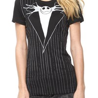 The Nightmare Before Christmas Jack Suit Girls T-Shirt - 123615