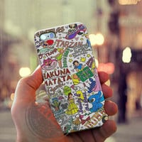 Collage Art Disney Case for Iphone 4, 4s, Iphone 5, 5s, Iphone 5c, Samsung Galaxy S3, S4, S5, Galaxy Note 2, Note 3.