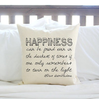 "Harry Potter ""Happiness Can Be Found"" Pillow"