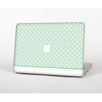 """The Vintage Light Green Polka Dot With White Strip Skin Set for the Apple MacBook Air 11"""""""