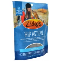 Zukes Hip Action Hip & Joint Supplement Dog Treat - Beef Recipe