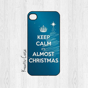 iPhone 4 case, iPhone 4S case, Keep Calm It's Almost Christmas - G045