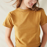 Urban Renewal Remade Overdyed Crew-Neck Tee | Urban Outfitters