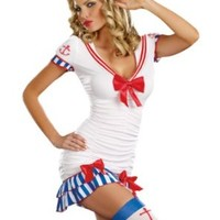 Dreamgirl Sailor Pin Up, White, Extra Large