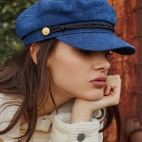 Denim Captain Hat | Urban Outfitters
