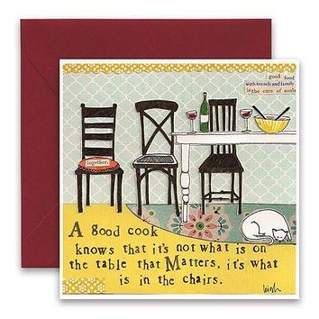 In The Chairs Greeting Card
