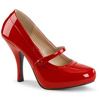 "Pin Up 01 Mary Jane Pump 4.5"" Heel Red Patent"