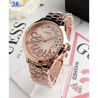 GUESS Newest Fashion Women Men Quartz Movement Wristwatch Watch 3#