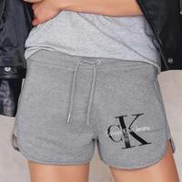 Calvin Klein Women's Fashion Cotton Drawstring Shorts F