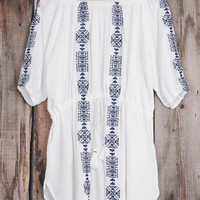 Cupshe Just For You Embroidered Cover-up