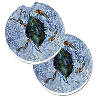 Crab Set of 2 Cup Holder Car Coasters 8151CARC