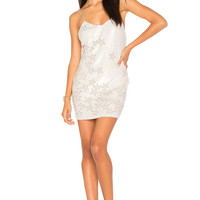 h:ours Charlize Beaded Dress in White   REVOLVE