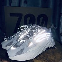 ADIDAS YEEZY 700 Tide brand breathable men and women models wild retro sports shoes 3#