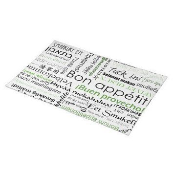 Bon appetit in many languages green place mat from inspirationzstore