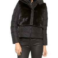 Add Down Down Jacket with Fur Vest