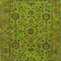Rugsville Overdyed Lime Green  Rug 11099 | Overdyed, Rugsville.com