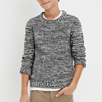 Boys Textured Marled Knit Sweater (Kids)