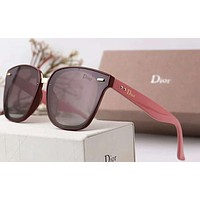 Dior Women Trending Popular Summer Sun Shades Eyeglasses Glasses Sunglasses Pink+Coffee G-A-SDYJ