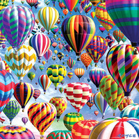 Double Sided Hot Air Balloons Puzzle - Puzzle Haven
