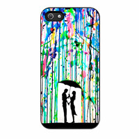 Love Song Romantic In The Rain Paint iPhone 5s Case