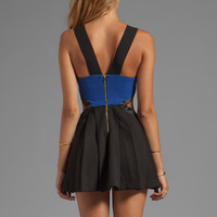 Three Floor REVOLVE Exclusive Look See Dress in Navy/Black from REVOLVEclothing.com