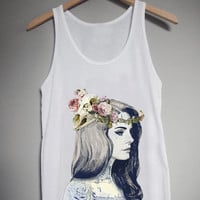 Lana Del Ray Tattoo for Tank Top Mens and Tank Top Girls