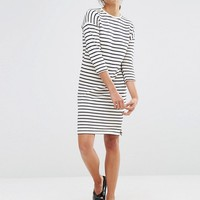 Native Youth Cocoon Stripe Dress at asos.com