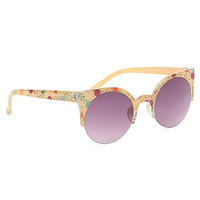 With Love From CA Printed Round Clubmaster Sunglasses at PacSun.com