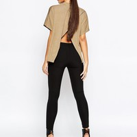 Missguided Open Back Oversized T-Shirt at asos.com