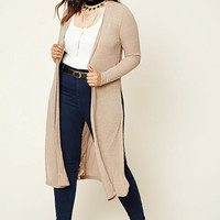 Plus Size Marled Knit Cardigan