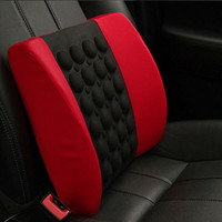 Comfortable Auto Car Waist Seat Chair Massage Cushion Office Back Lumbar Support _ 3565