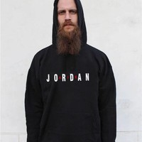DCCK2x 585 Nike Air Jordan Fashion Causal Sports Hoodie Black