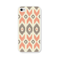 Peach Geometric Ikat Apple iPhone 5 Case - iPhone 5 Cover - Tribal Southwest iPhone 5 Skin - Coral Cream Cell Phone