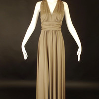 1970s Beaded Knit Evening Gown, Bust-38