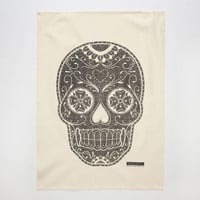 The Rise And Fall Skull Kitchen Towel Natural One Size For Women 25202842301