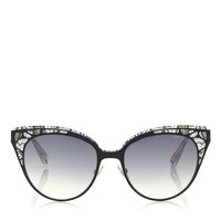 Brown, Rose Crystal Lace Sunglasses   Estelle   Eyewear Collection   JIMMY CHOO Sunglasses