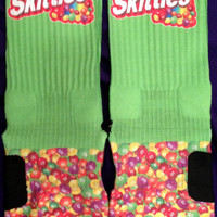 Mr Skittles Parody Custom Nike Elite Socks