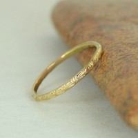 14k Solid Gold Bohemian Ring, G10