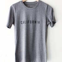California Relaxed Tee - Grey
