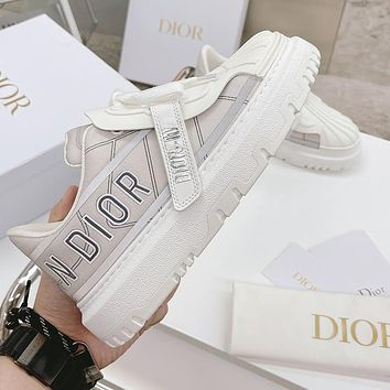 Dior Womens 3M Reflective Shell Toe Sneakers Shoes-3