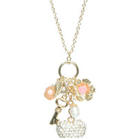 Puffy Rhinestone Heart Necklace | Shop Accessories at Wet Seal
